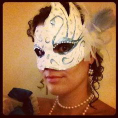 And finally, my own DIY masquerade mask :)  #papiermaché #painting #plumet