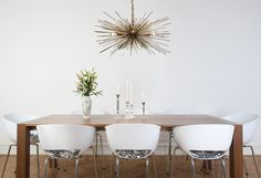 THE LESSER EXPENSIVE VERSION FOR FOYER  Gold Urchin Chandelier - Dutton Brown