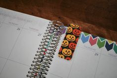 halloween laminated coil clip in bookmarks and dashboards for erin condren life planner, plum paper and limelife. www.trulysimpleplanners.etsy.com