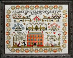 Red House Sampler by The Sampler Company