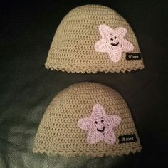 Crochet baby hat with star