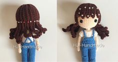 muñeca de crochet Crochet Doll Pattern, Crochet Dolls, Crochet Baby, Free Crochet, Knit Crochet, Crochet Patterns, Crochet Doll Clothes, Yarn Bombing, Crochet Videos