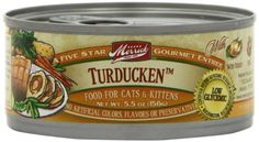 Merrick Turducken Cat Food - Of course, only High Protein/ Low Carb cat food.  I add water each time as well.