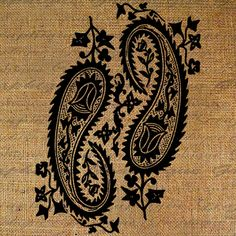 Large Paisley Paisleys Pattern Morroccan Henna  by Graphique