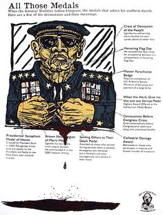 All Those Medals, political poster by Art Hazlewood on World Printmakers Political Posters, Printmaking, Flag, Fine Art Prints, Art Prints, Printing, Science, Prints, Flags