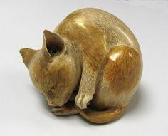 Cat, 1904. Stoneware. Japan.