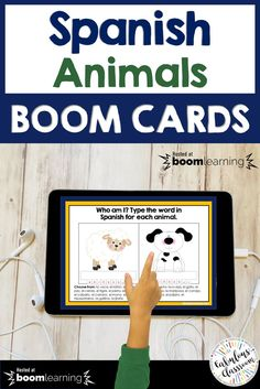 Do your students need a little bit of help with Spanish words for animals? Or perhaps you'd like to introduce Spanish animal vocabulary to your own children? Includes matching, multiple-choice, fill in the blank, and listening exercises - super fun and engaging! Spanish Lesson Plans, Spanish Lessons, Spanish Games, Spanish Teaching Resources, Teacher Resources, Homeschooling Resources, Professor, How To Speak Spanish, Learn Spanish