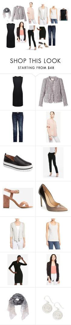 """capsule"" by bridgetteraes ❤ liked on Polyvore featuring Madewell, Ann Taylor, Halogen, Daya, NIC+ZOE, Nordstrom and Anna Beck"