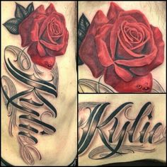 "Name ""Kylie"" with rose"
