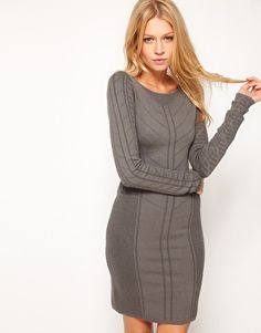 Enlarge Oasis Textured Panel Body-Conscious Dress