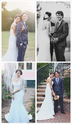 These dreamy photographs highlight the top shots for a wedding day: the couple's affection for one another, the sheer happiness of the day, and, of course, the wedding dress!
