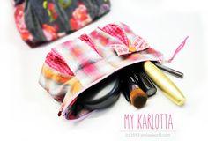 My Karlotta-Pouch #pdfpattern #sewing #pouch #bag #smilasworld.com #Karlotta Pdf Sewing Patterns, Rum, Sunglasses Case, Blog, Design, Pouch Bag, Fashion, Wallets, La Mode