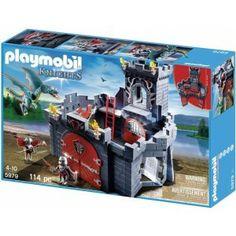 Playmobil 5979 - Zestaw Playmobil Smoczy Zamek posiada 114 elementów do złożenia Zamku z Rycerzami i Groźnym Smokiem - Klocki Playmobil 5979 - Smoczy Zamek Serii Playmobil Knights