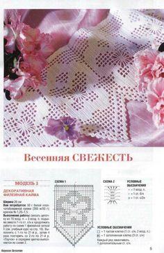 Stiefmütterchen Borte häkeln -  crochet border pattern