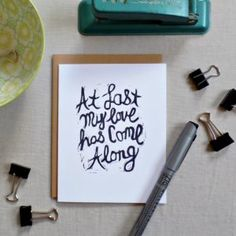 Etta James song lyrics At last my loves has come along card  #ettajames #atlast #romantic #anniversary #wedding