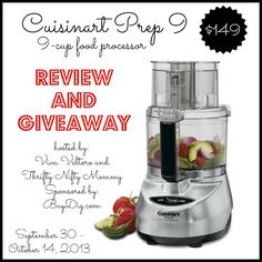 Cuisinart Prep 9 Food Processor Giveaway!