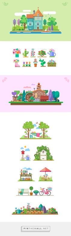 Vector garden story on Behance - created via http://pinthemall.net