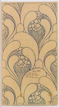 art nouveau fabric design by koloman moser for backhausen, 1900
