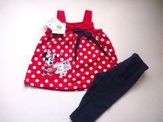 Zilele sunt mai vesele cu Baby Minnie! Compleu vara fetite 12-18 luni. Este compus din doua piese. Pret: 35.00 lei http://hainute-fetite.ro/produs/compleu-minnies-postcardrosu/