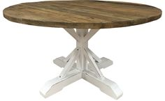 New Line East, runt matbord i rustik vitlack / återvunnet trä.   Återvunnet trä får nytt liv i East serien där en perfekt patina skapas genom handmålade och handlackerade ytor och detaljer. Med dessa vackra möbler sätter du en romantisk prägel på ditt hem som för tankarna till det rustika och det lantliga.