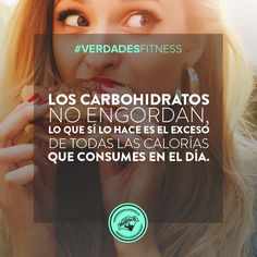 Los carbohidratos no te engordan, es más son necesarios en tu dieta ya que aportan energía. Lo que te hace aumentar de peso son las calorías totales que consumes durante el día y la calidad de los alimentos de donde las obtienes. #diet #dieta #nutrition #nutrición #fit #fitness #fullmusculo #bodybuilding  #carbs #carbos
