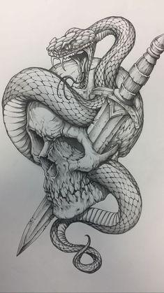 Skull Tattoo Design, Tattoo Design Drawings, Skull Tattoos, Art Drawings Sketches, Tattoo Sketches, Tattoo Designs Men, Body Art Tattoos, Hand Tattoos, Sleeve Tattoos