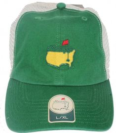 ba31a67f34adce Green Masters Hat - Fitted Trucker Hat with Mesh back - Masters Golf - size  M/L