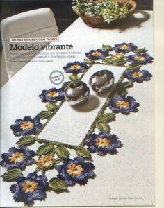 Mania-de-Tricotar: Centro de mesa em crochê