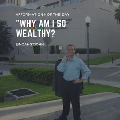 Why am I so wealthy? #Afformations #entrepreneurlife #mentor #picoftheday #tagforlikes #lifequotes #billionairelifestyle #repost