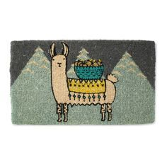 Reward journeys with a greeting from Larry the llama, the star of this colorful, sturdy welcome mat.