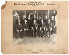 Photograph of Renouard Training School for Embalmers Students, New York, 1916