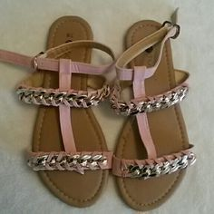 Chatties Sandals Pink/gold sandals by Chatties. Brand new. Never worn. NWOT. Size 7/8. True to size. Perfect condition. No trades or paypal. Bundle for discounts. Chatties Shoes Sandals