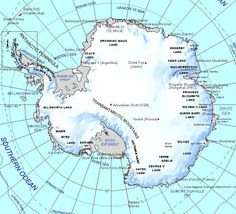 Antarctica.  Not as cold as it used to be, nor as it ought.