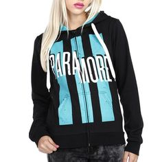 The Paramore 'Teal Bars' Hoodie is available now exclusively on HotTopic.com: http://www.hottopic.com/hottopic/WhatsNew/Music/Paramore+Teal+Bars+Zip+Girls+Hoodie-144902.jsp