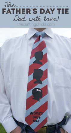 Father's Day Tie….I need to make the heads super small or Micah's gonna … Father's Day Tie…. Great Father's Day Gifts, Simple Gifts, Gifts For Dad, Best Gifts, Daddy Day, Worlds Best Dad, Mother And Father, Father Sday, Mothers