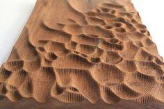 Teak wood wall sculpture von NardineDesignStudio auf Etsy