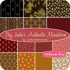 Itsy Judie's Authentic Miniatures Fat Quarter Bundle Judie Rothermel for Marcus Brothers Fabrics