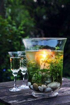 20 idee creative per una decorazione acquatica in un contenitore di vetro! Lasciatevi ispirare…