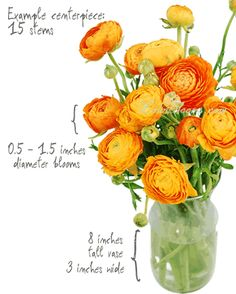 Ranunculus Wedding Flowers Orange
