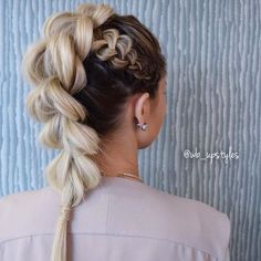 Love this Pull-Through BRAID with a side Dutch! ✨ look created by @wb_upstyles @wb_upstyles ✨ Ck her out! #pullthroughbraid #beyondtheponytail