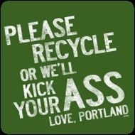 Portland Oregon oregon. I like the sign... Nice way to put it