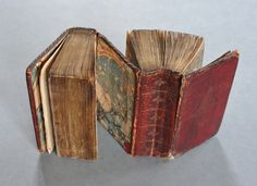 "The bookbindings above are as odd as they are rare - this image is from the Folger Library's image database of bookbindings. The binding is called ""dos-à-dos"" (back to back), a type almost exclusively produced in the 16th and 17th centuries."
