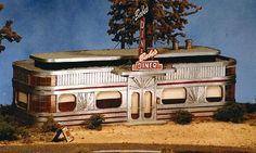Babe's Diner - HO-Scale (bts27440) BTS HO Scale Model Railroad Buildings