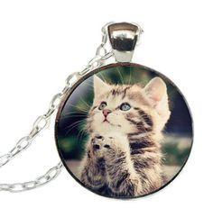 Collane con cammeo - Collana gattino - un prodotto unico di Le-gemme-di-Hemet su DaWanda
