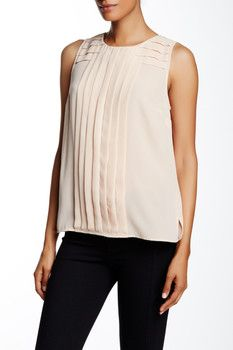 Vince Camuto Sleeveless Pleated Front Blouse