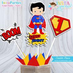 Centro de Mesa Superman centro mesa super man superhéroes