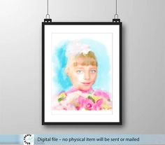 Personalized Digital Portrait. Сustom hand drawn painting christmas gift idea. Portrait from photo oil painting style. Trendy wall art