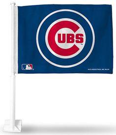 Car Flag By Rico MLB Chicago Cubs