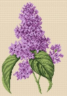 Lilacs cross stitch