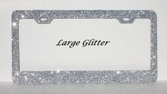 Super SPARKLY & SHINY Bling Glitter Licence Plate by BlingCreation, $27.99